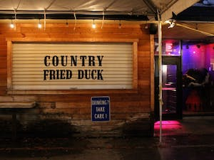 "Country Fried Duck lost its liquor license, however it reopened with the new name ""Night School"" and a new liquor license."