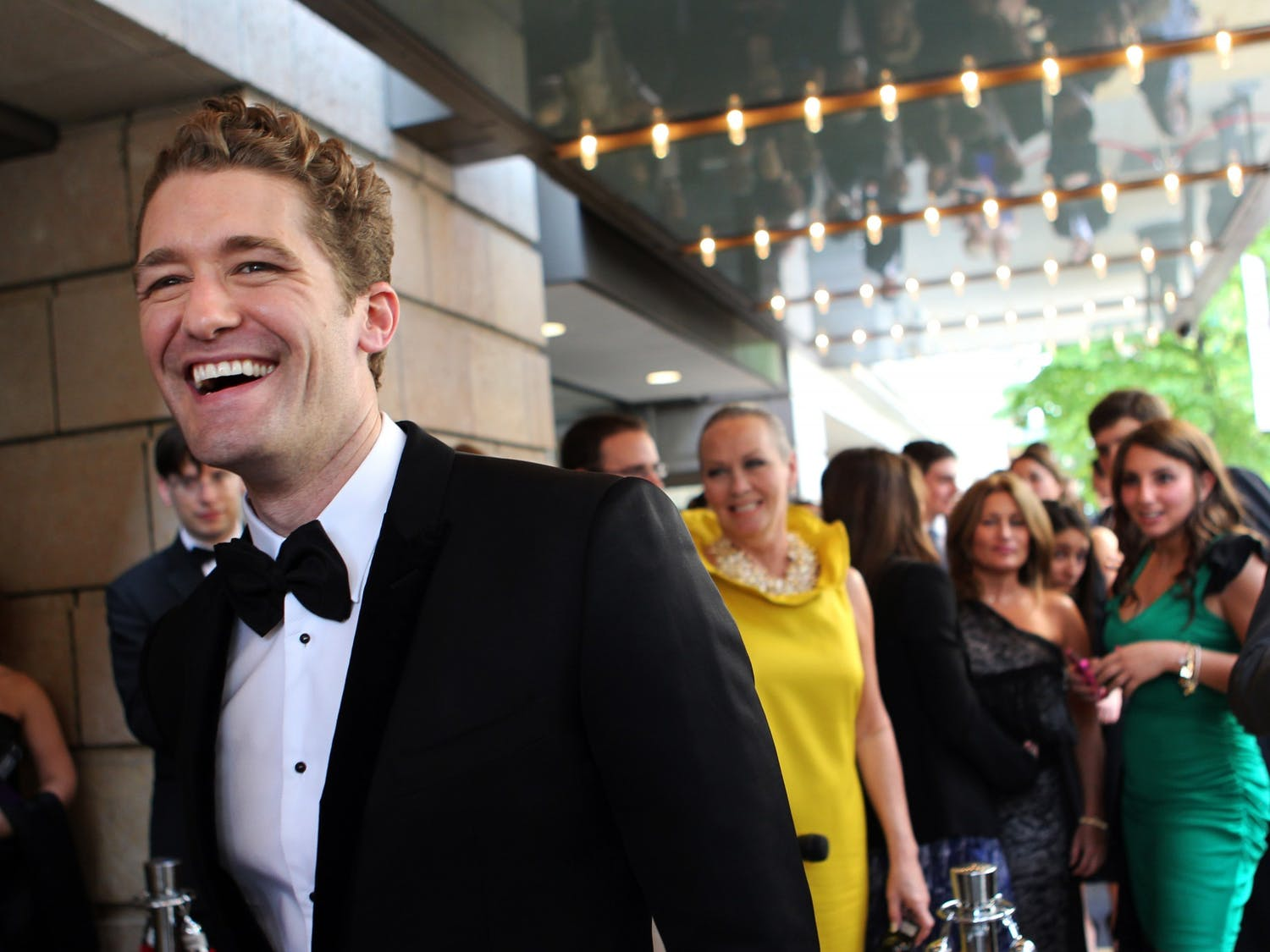 "Matthew Morrison of the television show ""Glee"" arrives at the Goodman Theatre Gala in Chicago, Illinois, on May 21, 2011. Photo courtesy of Chris Sweda/Chicago Tribune/MCT"