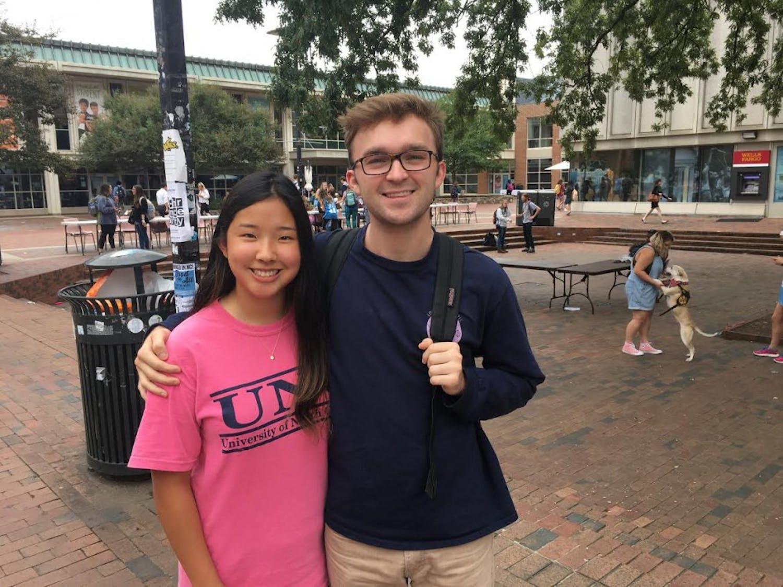 Sophomore Eunice Kim and senior Stuart Schrader are involved in Pit Talk.
