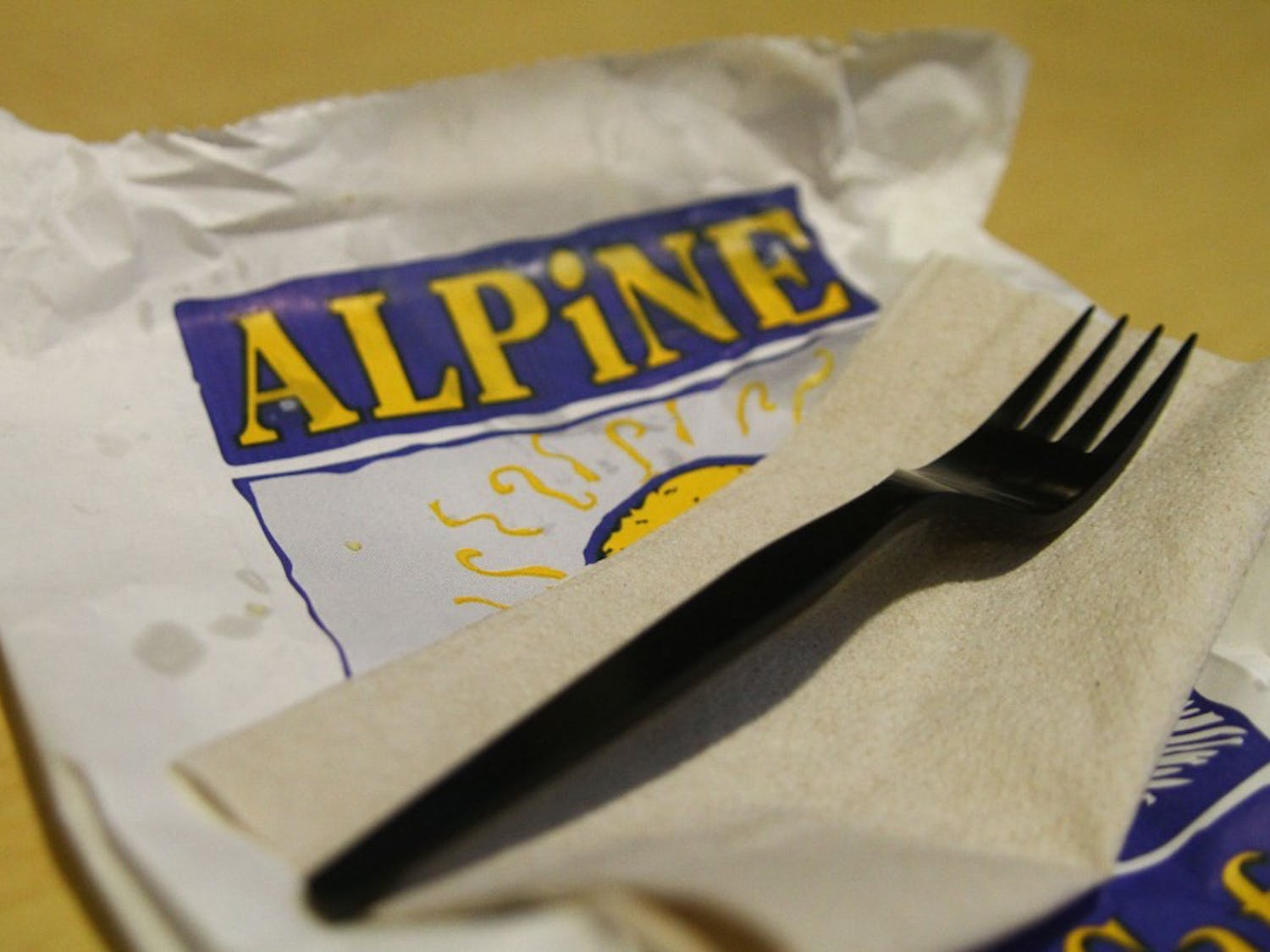 Alpine Bagel Cafe charges 20 cents for a utensil when purchased without food.
