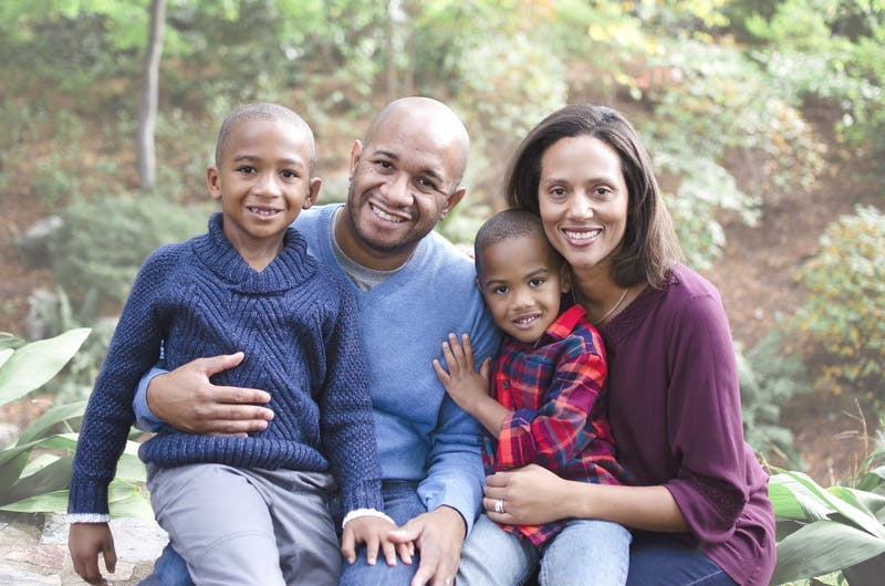 Sydney Batch pictured with her husband, J. Patrick Williams, and their two sons. Batch is a Chapel Hill High School graduate who recently won a seat in the North Carolina General Assembly, where she is representing District 37 in the N.C. House. Photo courtesy of Sydney Batch. Photo by Patricia Mitter.