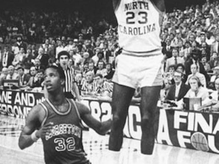 First-year Michael Jordan made his mark on UNC basketball by hitting the game-winning shot in the 1982 championship game. DTH File