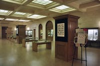 """An Alphabet of Treasures: Special Collections from A to Z,"" an exhibit now on  display in Wilson Library, includes a range of artifacts for students to explore."