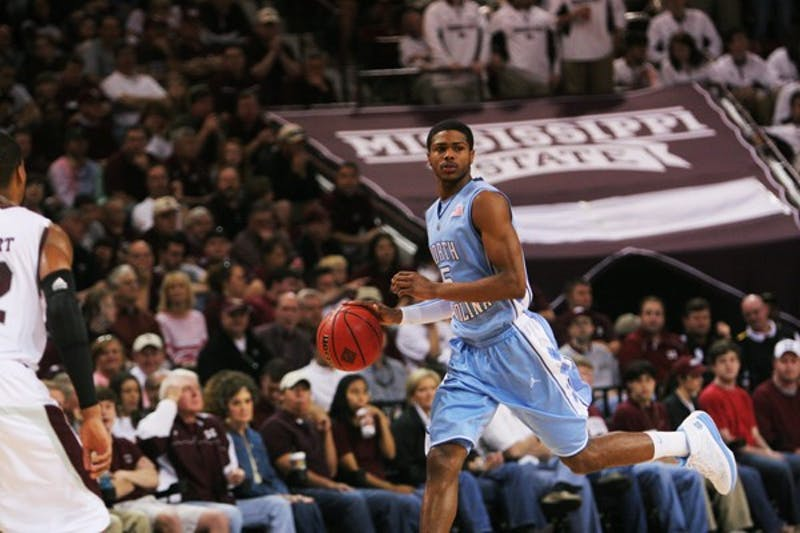 Freshman Dexter Strickland scored eight points and two assists off the bench for North Carolina. DTH/Jordan lawrence
