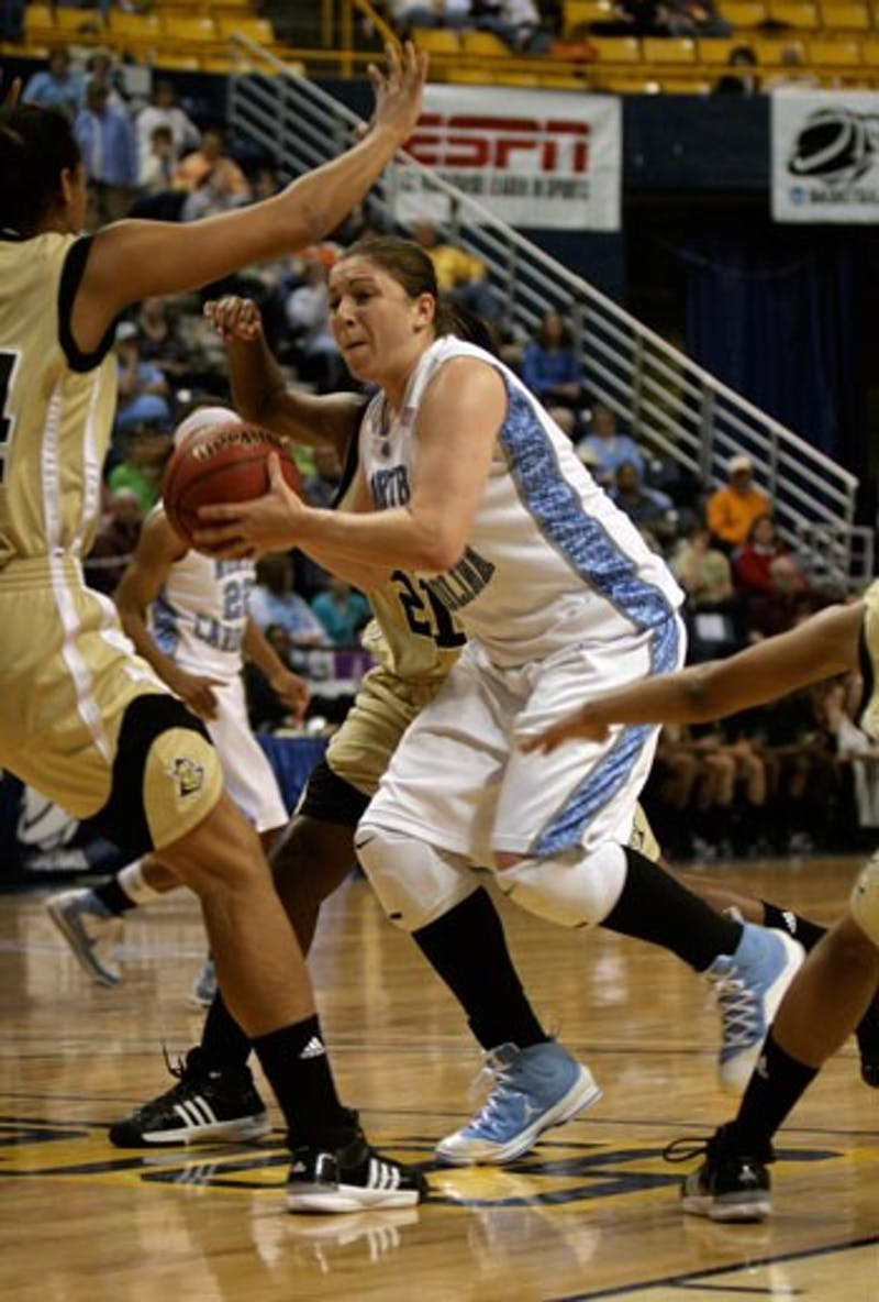 """North Carolina senior Heather Claytor"""" who started last year amassed a season-high 17 points on 6-for-8 shooting in 20 minutes against UCF."""