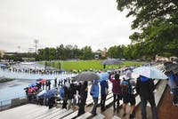 The UNC women's lacrosse team beat Virgina 14-6 in the ACC semi-final match on April 21, 2012 at Duke University.