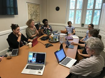 Members of the Committee on the Status of Women gathered on Wednesday, Sept. 18, to discuss the gender pay gap at UNC