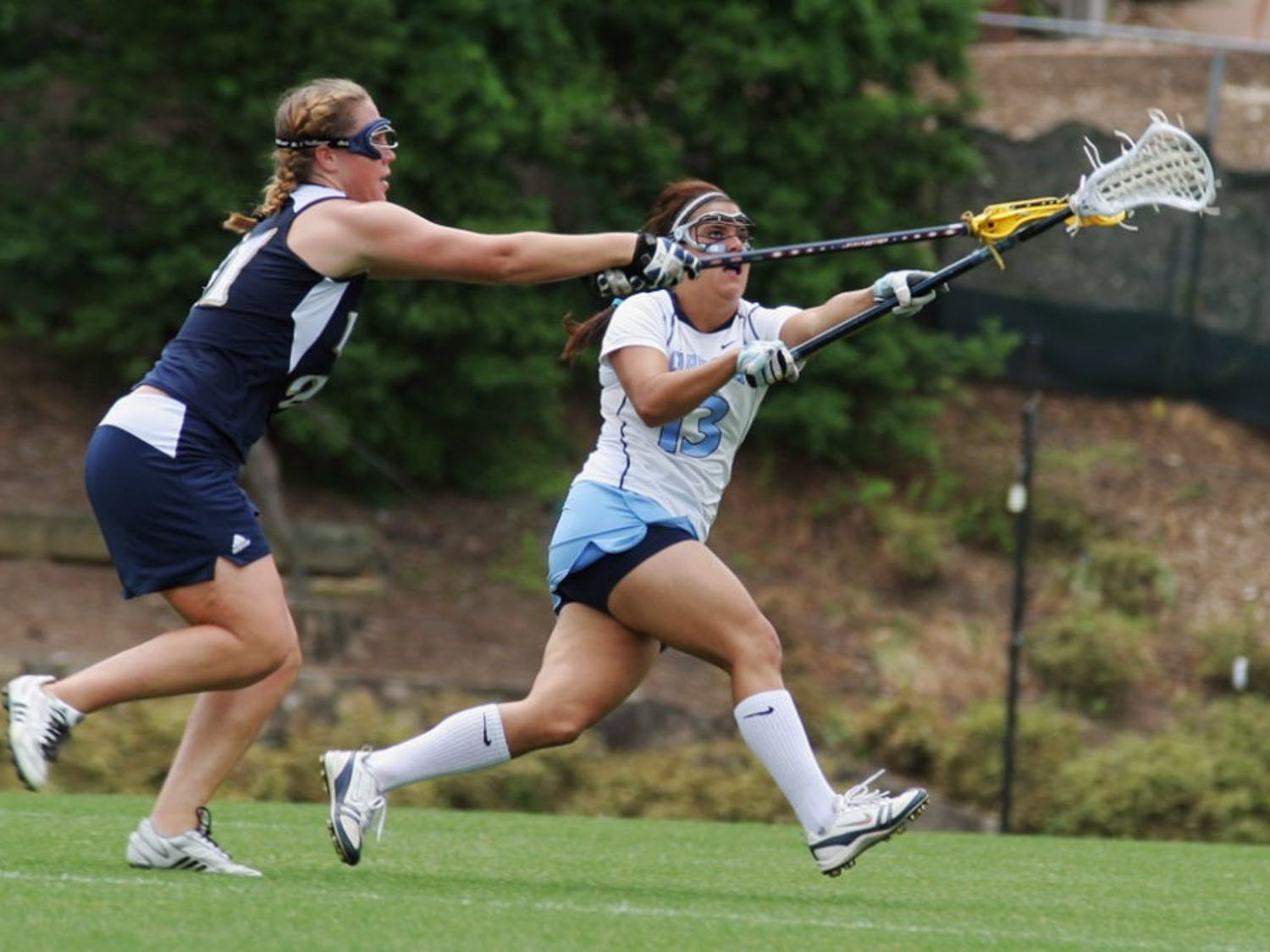 Senior defender Amber Falcone leads the Tar Heels into the national semifinals with the third consecutive All-ACC selections to her name.