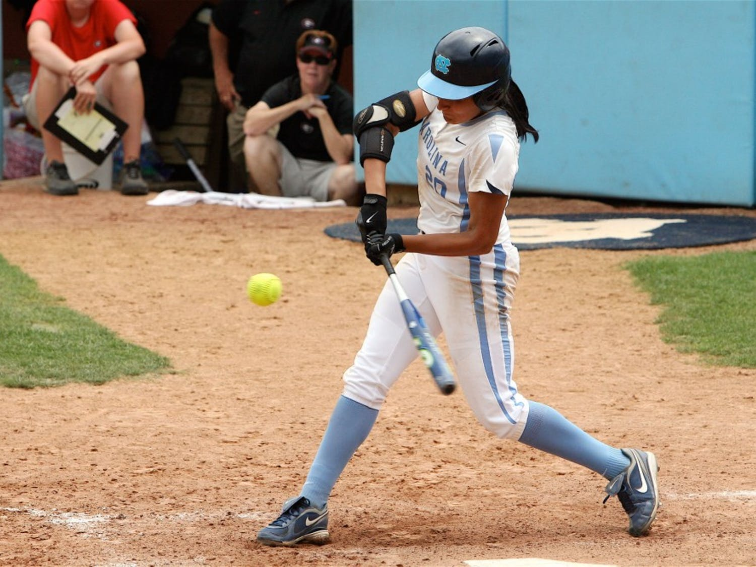 """Junior pitcher Danielle Spaulding homered and pitched six-plus strong innings"""" but it wasn?t enough to stave off elimination against Georgia."""
