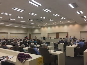 Common Cause N.C. held a public hearing on June 5 to raise awareness of a bill that would create anonpartisan redistricting commission.