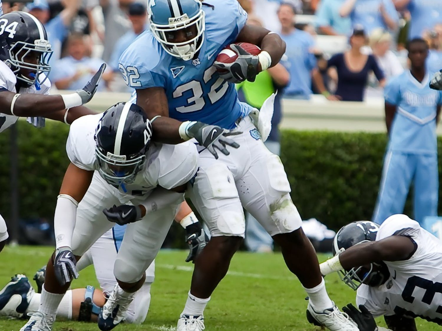 Running back Ryan Houston will head UNC's running game with seniors Shaun Draughn and Johnny White. The trio's offensive production will help determine Saturday's outcome in UNC's season opener against LSU.