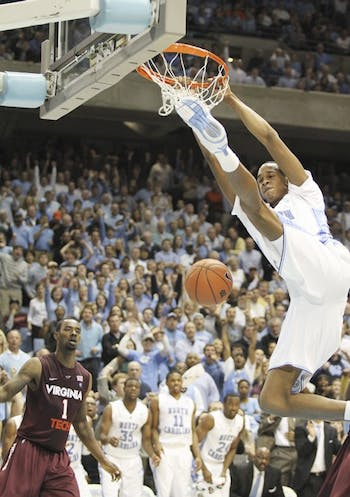 John Henson took over the game in the second half, scoring 12 points to lead the Tar Heels. The sophomore forward was pivotal in UNC's late comeback.