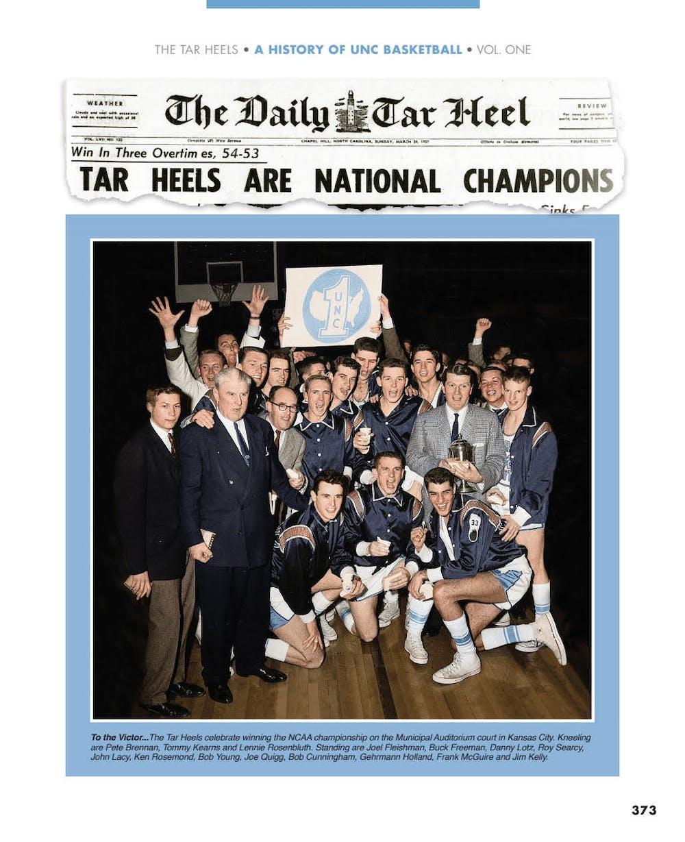The Tar Heel Book is full of memorabilia – vintage ticket stubs, program covers, Daily Tar Heel headlines and rarely seen photos. Courtesy of The Tar Heel Book authors.