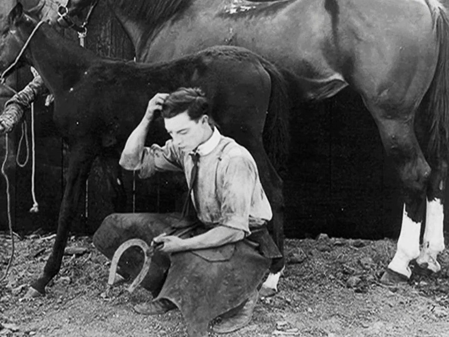 Still from Buster Keaton's silent film The Blacksmith. Photo courtesy of Tim Carless.