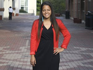 Senior Chelsea Barnes, a political science and communication studies major from Hope Mills, N.C., is the president of the Carolina Indian Circle, a student organization that serves to recognize Native American heritage. The bricks in-between the Union celebrate Native American heritage.