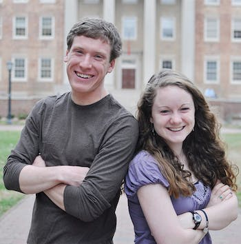 Sarah MacLean and Kyle Villemain, junior Global Studies and Peace, War, and Defense majors, are the winners of the 2013 Eve Carson Memorial Scholarship. The scholarship provides $5,000 for a summer program of their choice and half of their senior year tuition.