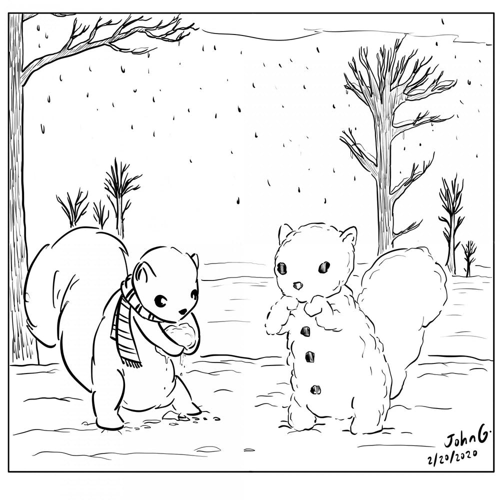 Cartoon: Snow day