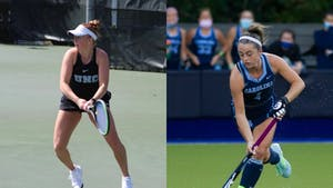 Sara Daavettila (left) and Erin Matson (right) have both won the 2021 Honda Sport Award for their respective sports, tennis and field hockey.
