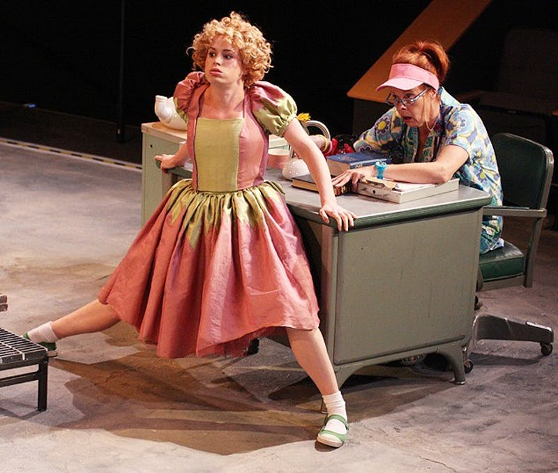 Imaginary Invalid play at Paul Green Theatre at the Center for Dramatic Art.Katie Paxton plays Little AngelJulie Fishell plays the nurse
