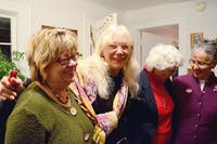 Randee Haven-O'Donnell (second from left) celebrates her election win with Diana McDuffee, Ellie Kinnaird and Melva Okun.
