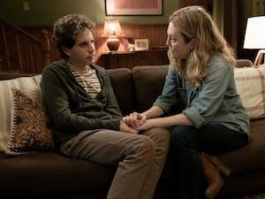 """Ben Platt, left, and Julianne Moore in """"Dear Evan Hansen."""" Courtest of Erika Doss and Universal Pictures."""
