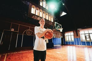 Senior Matthew Fedder worked for Nike as a brand intern in Chicago during the summer of 2018. The training center shown was converted from a church.