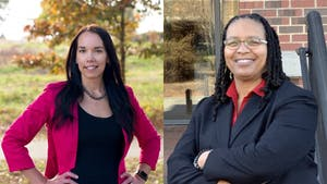 Kellie Mannette and Woodrena Baker-Harrell are the two attorneys in the running for vying for the position of chief public defender in the Orange and Chatham judicial district. Photo courtesy of Kellie Mannette and Woodrena Baker-Harrell.