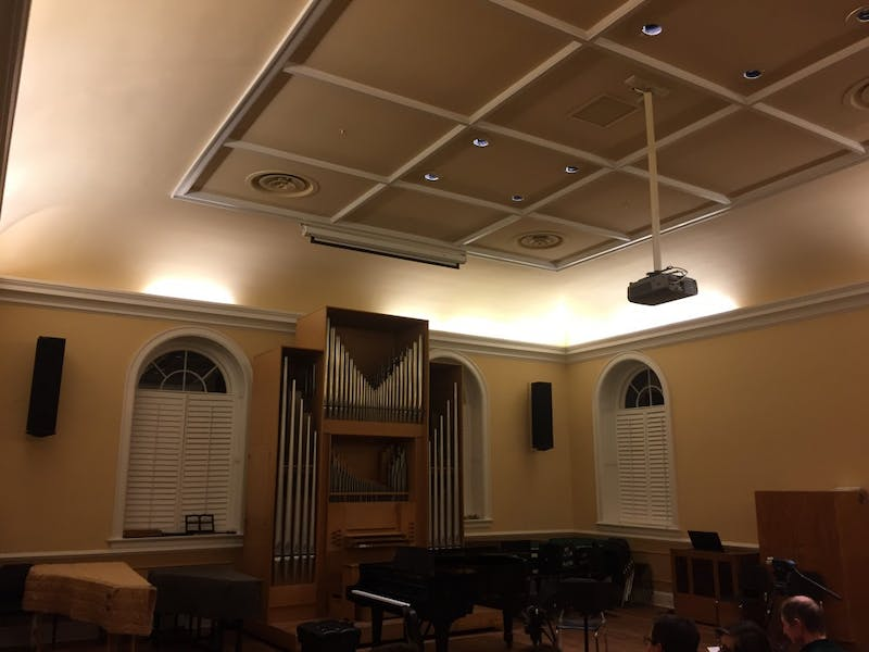 The University Chamber Players performed at Person Hall Monday night.