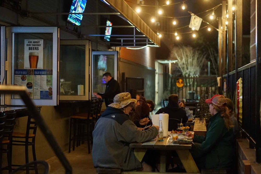 Might As Well Bar and Grill on Wednesday, April 3, 2021. Bars and restaurants are reopening and attempting to balance community responsibility despite Gov. Cooper's orders.