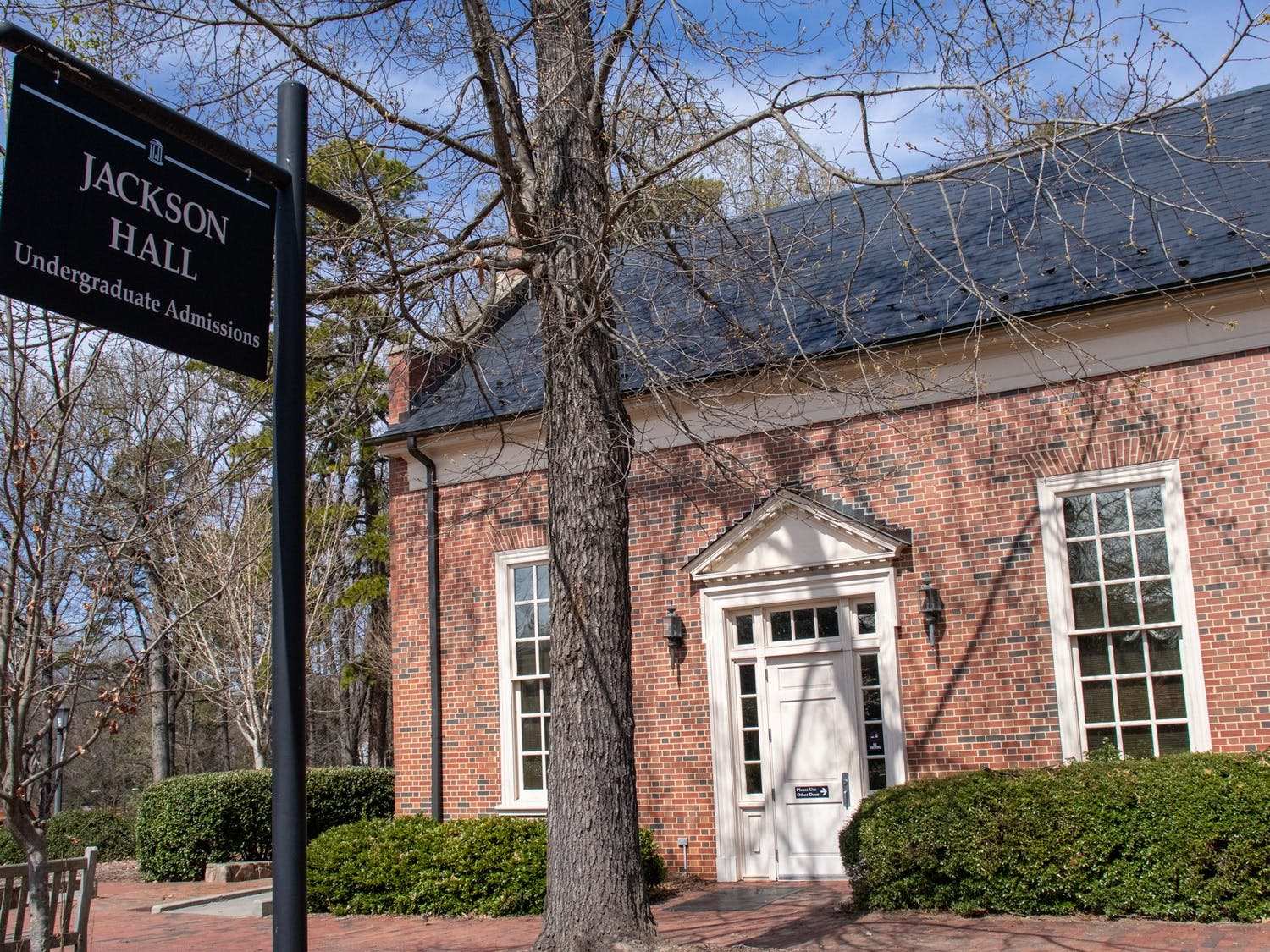 Jackson Hall which houses the Office of Undergraduate Admissions is pictures in Chapel Hill on March 20, 2021.
