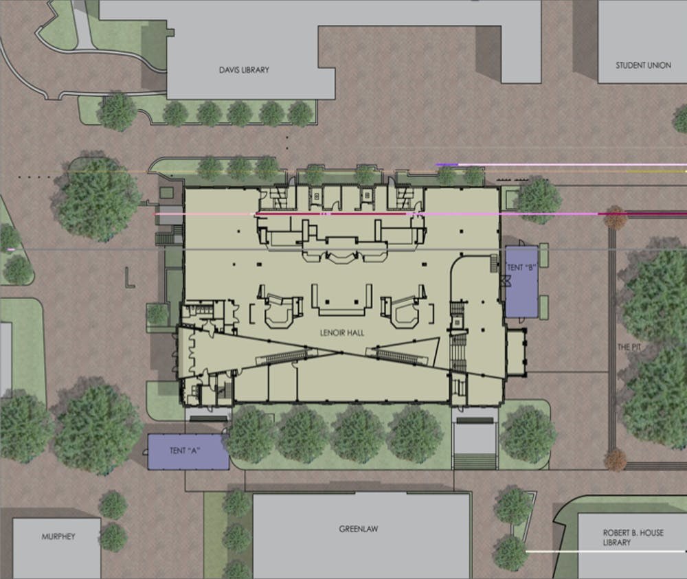 Lenoir Dining Hall and Student Union to start renovations beginning next fall