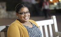 Alexandria Johnston of Virginia Beach, VA is the first recipient of the Dean Smith Academic Scholarship.  She is pursuing a masters in school counseling from the UNC School of Education.