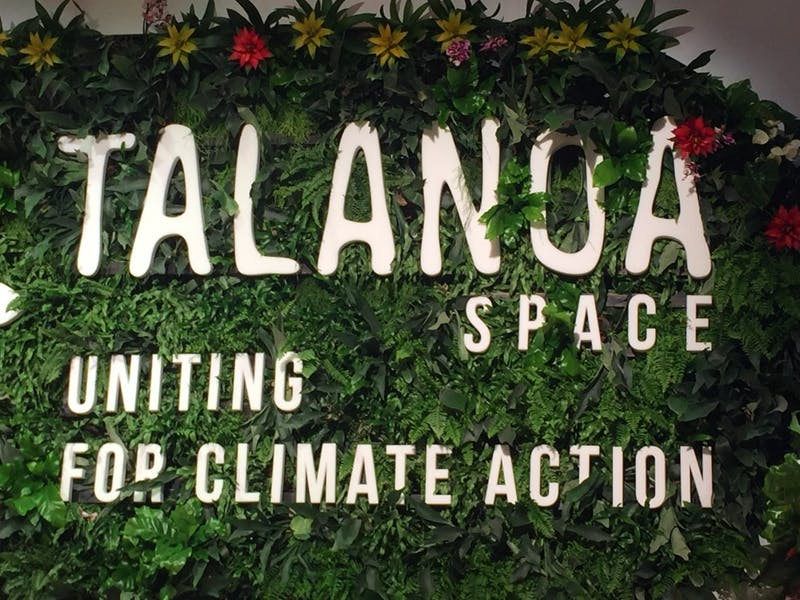 Talanoa is a term commonly used in Fiji to refer to a facilitative style of discussion that involves storytelling and talking. It has been adopted informally as a theme of COP 23. DTH/Mark Ortiz