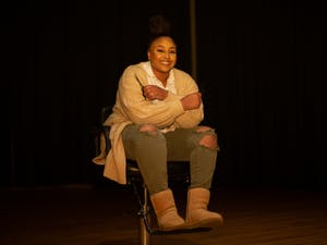 Anaía Brewster, a senior human development and family studies major, poses for a portrait at the Stone Center on Tuesday, March 16, 2021.