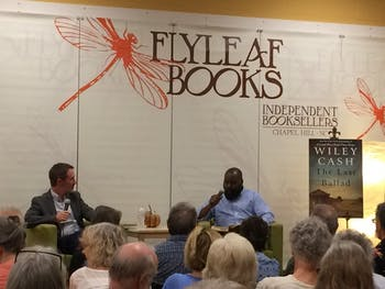 "Author Wiley Cash spoke at Flyleaf Books about his new novel, ""The Last Ballad."""