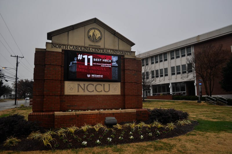 A digital sign on campus boasts North Carolina Central University's rank as the 11th best HBCU according to US News and World Report 2020 Rankings in Durham on Sunday, Dec. 1, 2019. There are currently five major capital projects underway at NCCU, including a new student center and three new residence halls.