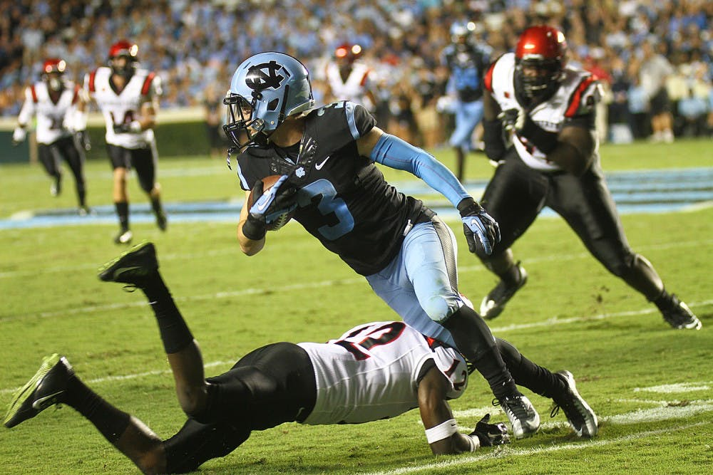 UNC football defeats Aztecs 31-27 behind fourth-quarter outburst