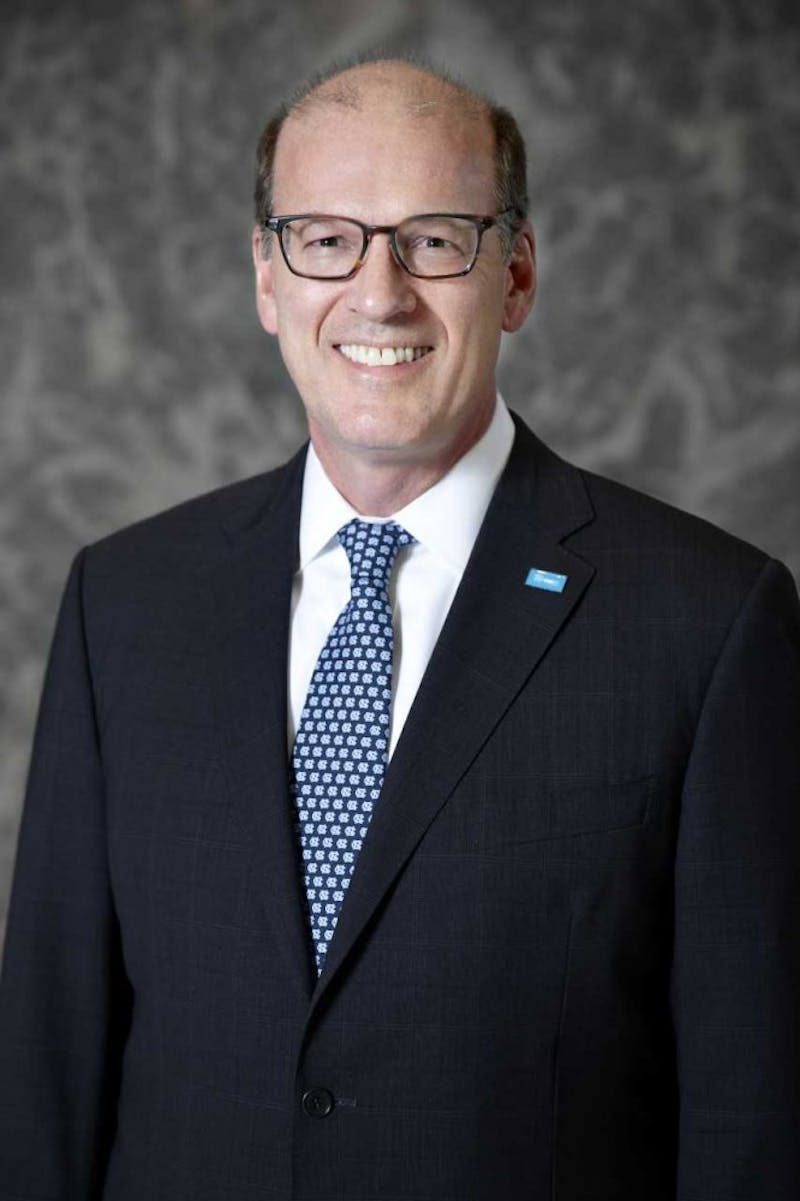 Jonathan Reckford, the spring 2019 graduation commencement speaker. Reckford has served as the CEO of Habitat for Humanity since 2004, and graduated from UNC in 1984