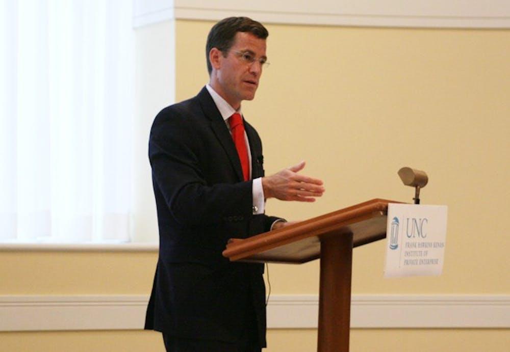 UNC alumnus Tom Woods discusses America's involvement in African economy