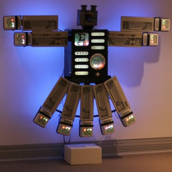 "South Korean artist Nam June Paik's piece ""Eagle Eye"" (pictured) is part of a show displayed in the Ackland for Geography 650."