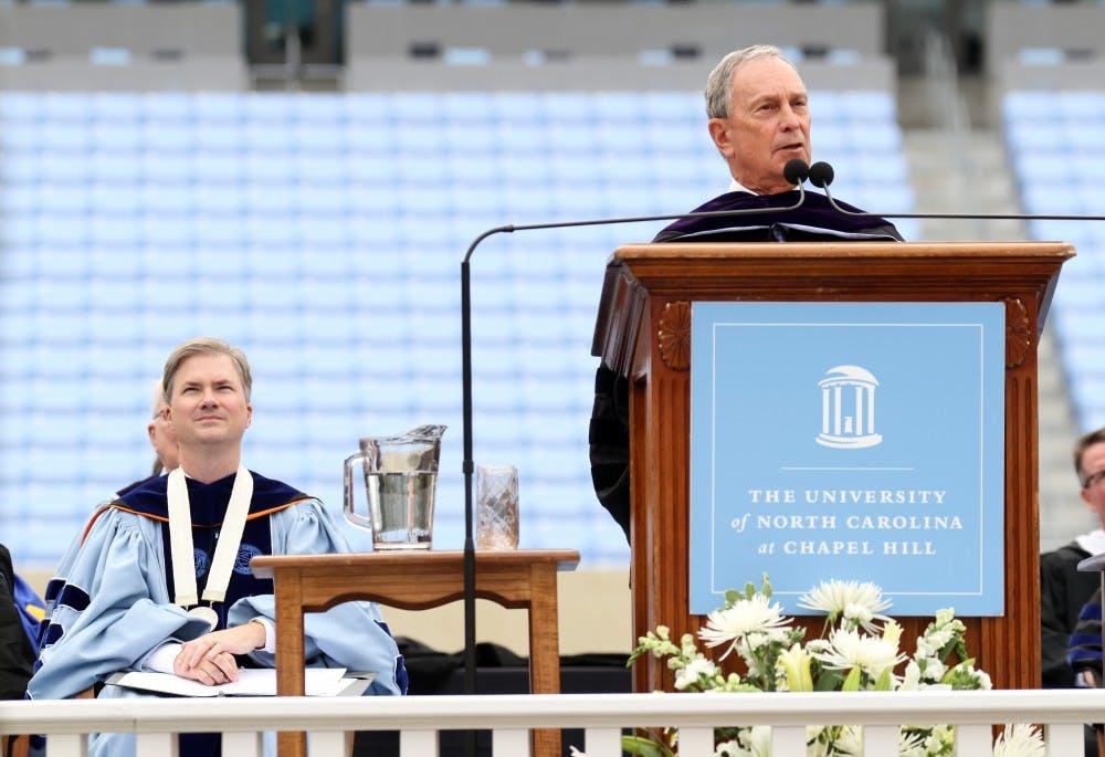 Bloomberg addresses seniors at 2012 commencement ceremony