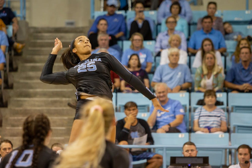UNC volleyball earns fifth win in six matches after 3-1 victory over rival Duke