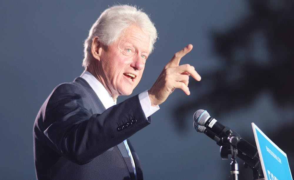 Former President Bill Clinton raises support for Obama