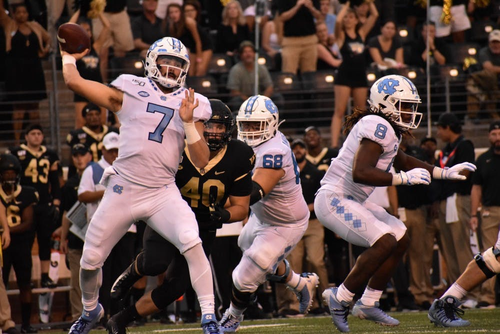 UNC suffers first loss of season, 24-18, to Wake Forest