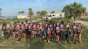 Triangle Bikeworks students during a 2021 trip. Photo courtesy of Itza Salazar.