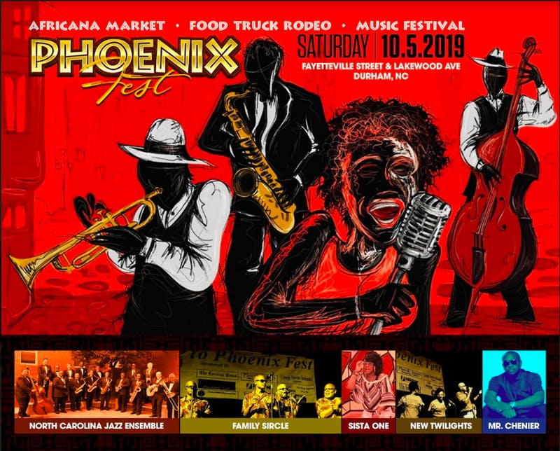 A graphic designed by Meldangraphix promoting Phoenix Festival 2019. Photo courtesy of Denise Hester.