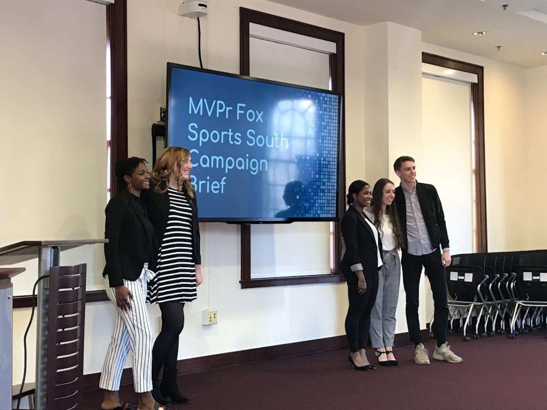 Students presented in MEJO 634 for the Fox Sports University program on Nov. 29, 2018 in Carroll Hall room 305.