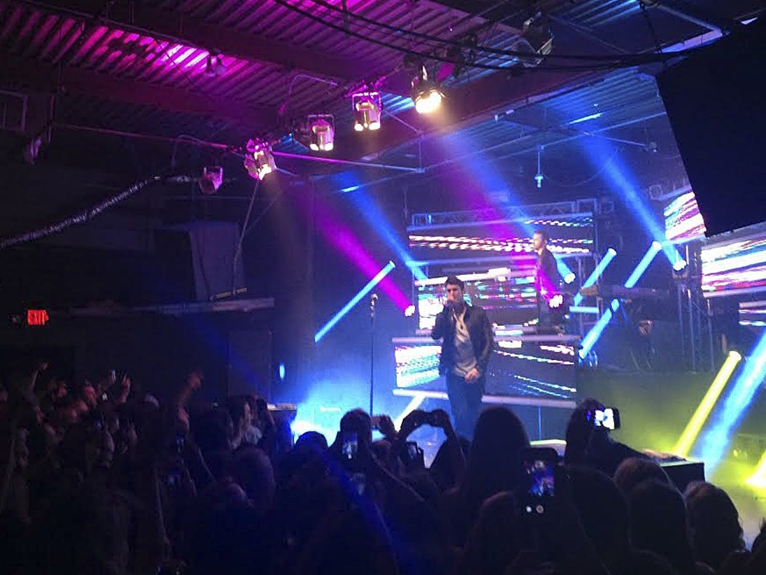 Timeflies, a music duo, sings at Cat's Cradle in Carrboro as a part of their After Hours tour. Tickets for the performance sold out.
