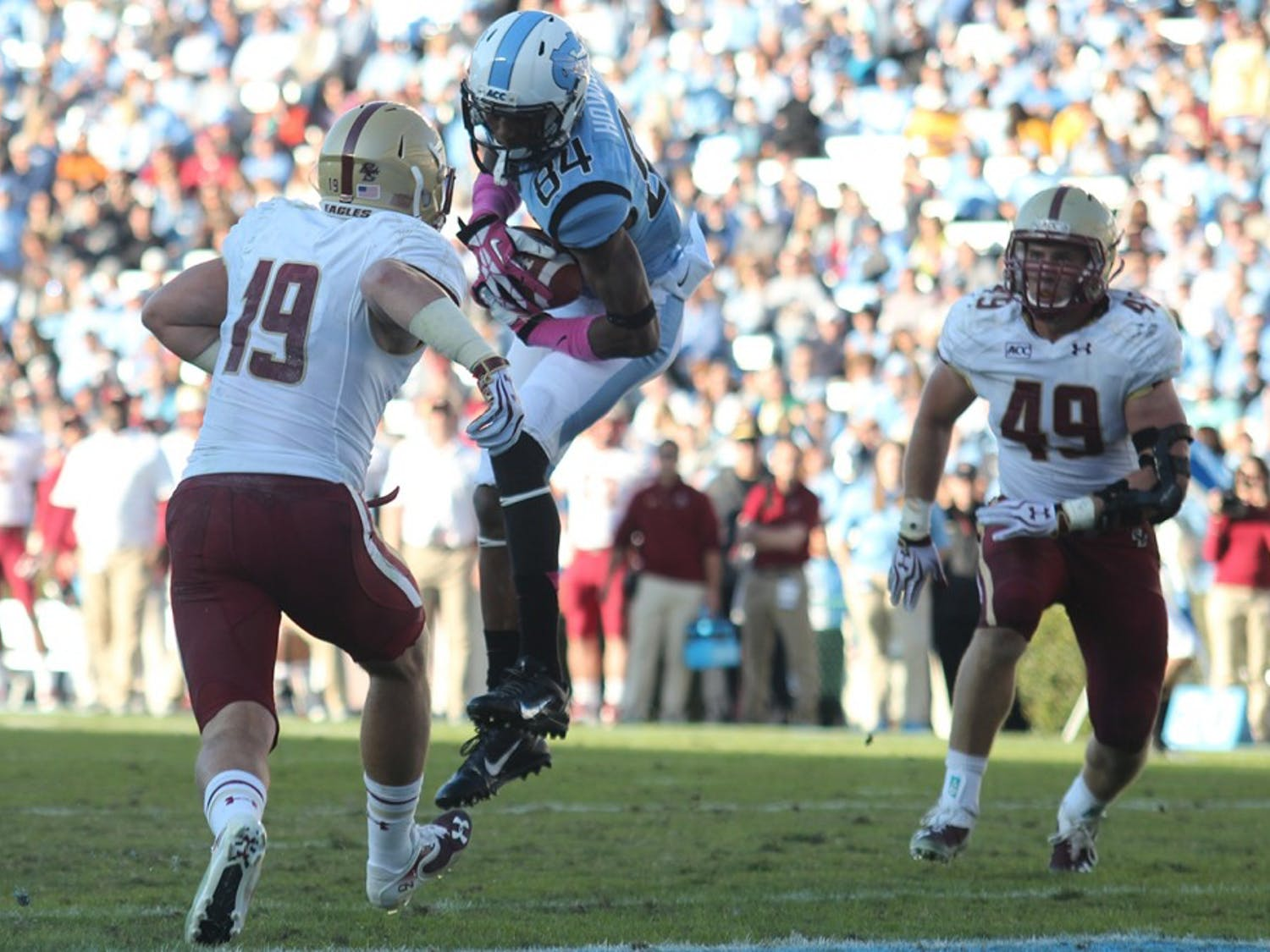 UNC played Boston College on October 26th.