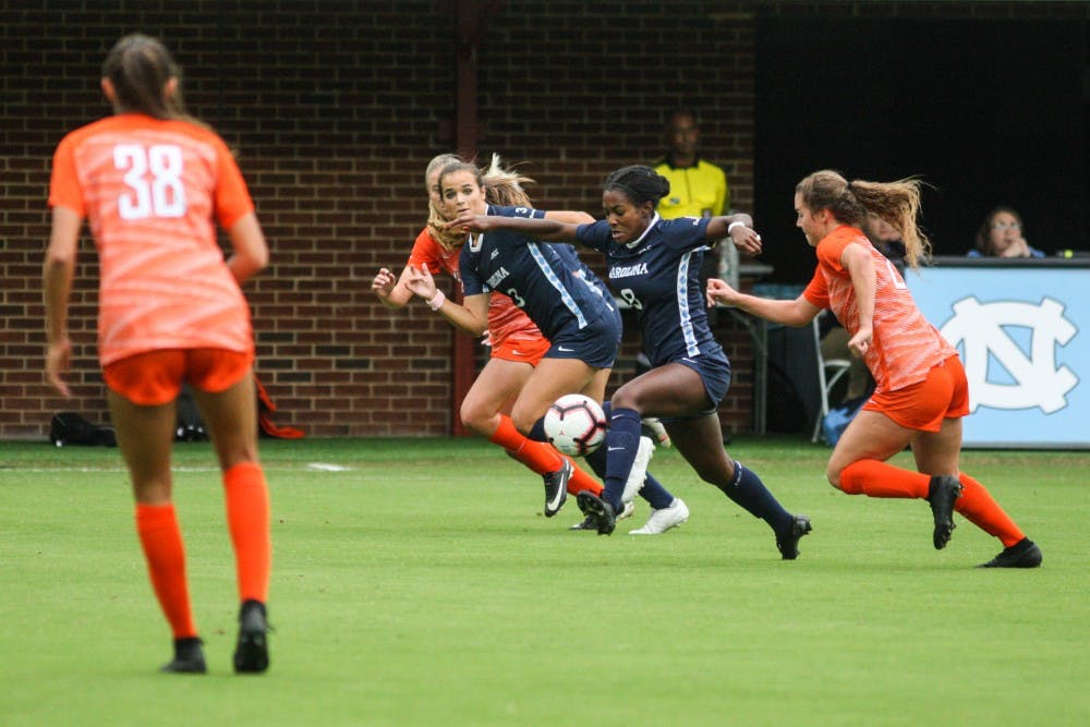 UNC women's soccer ends regular season with a 3-2 win over Miami
